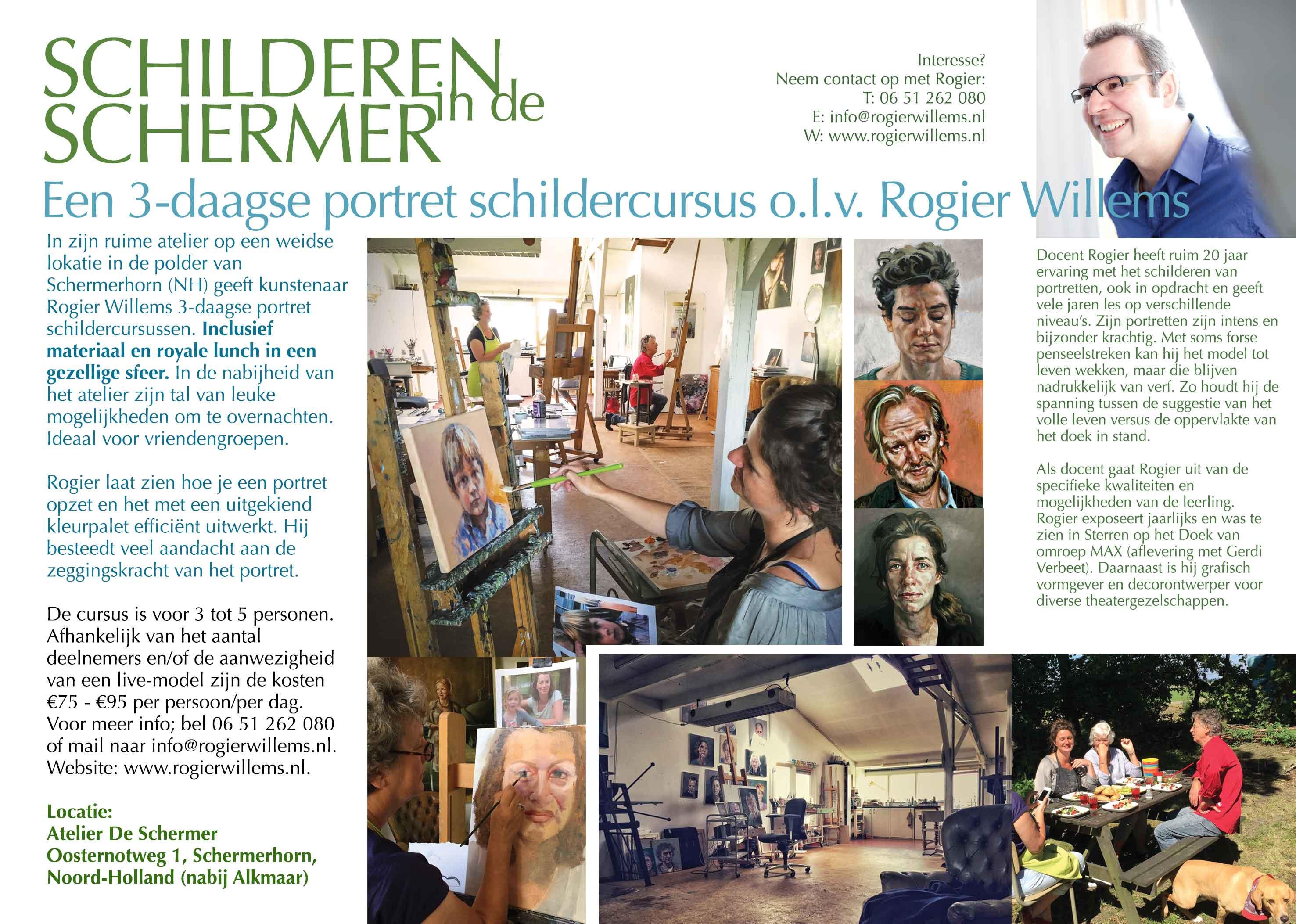 3 Daagse Portret Schilder Cursus Rogier Willemsrogier Willems